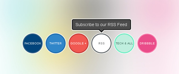 CSS Powered Buttons with Hover Tooltips by Tech and ALL