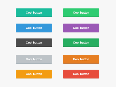 Flat Buttons PSD by Surjith SM