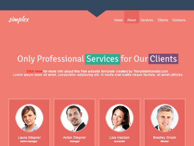 Free Single Page Website Template For Business Site by TemplateMonster
