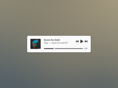 Mini Music Player Free PSD by Joshua Andrew Davies