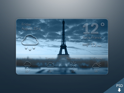 Weather Widget Freebie by Barry Mccalvey